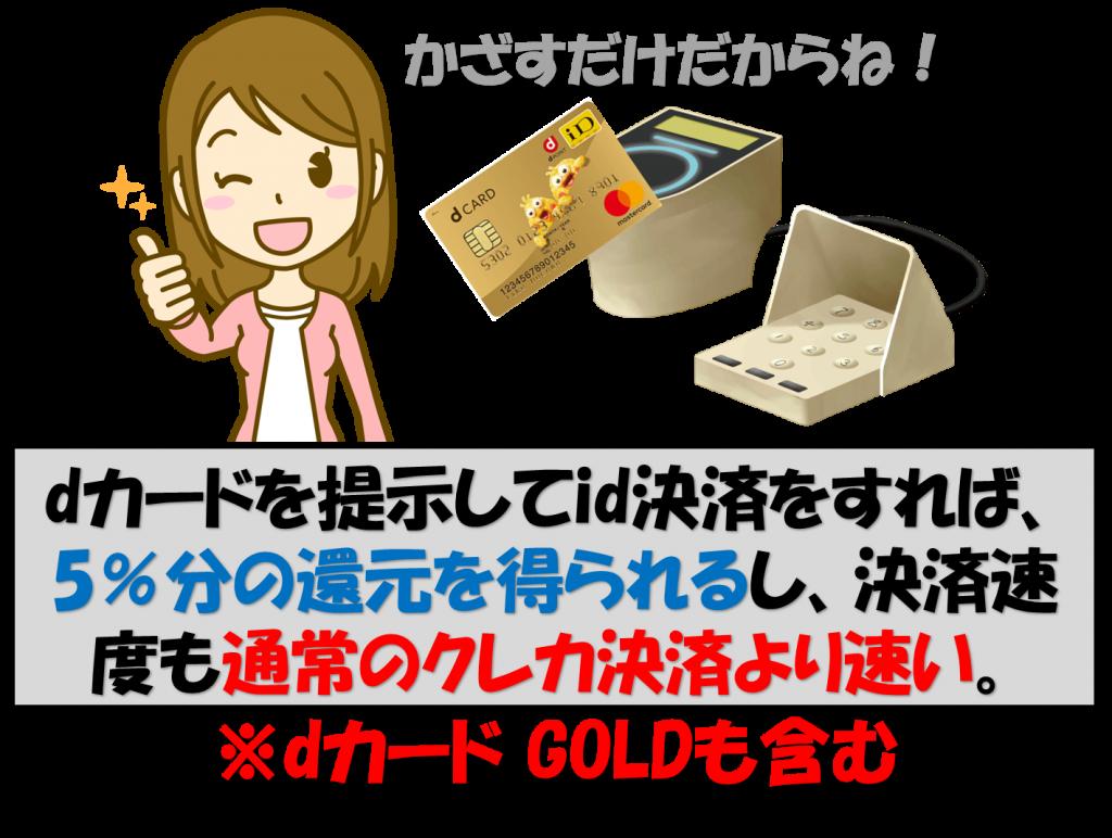 dカードゴールドid決済